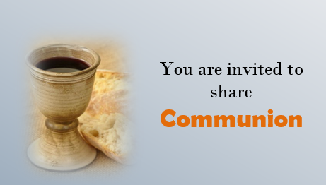 Communion Service this Morning