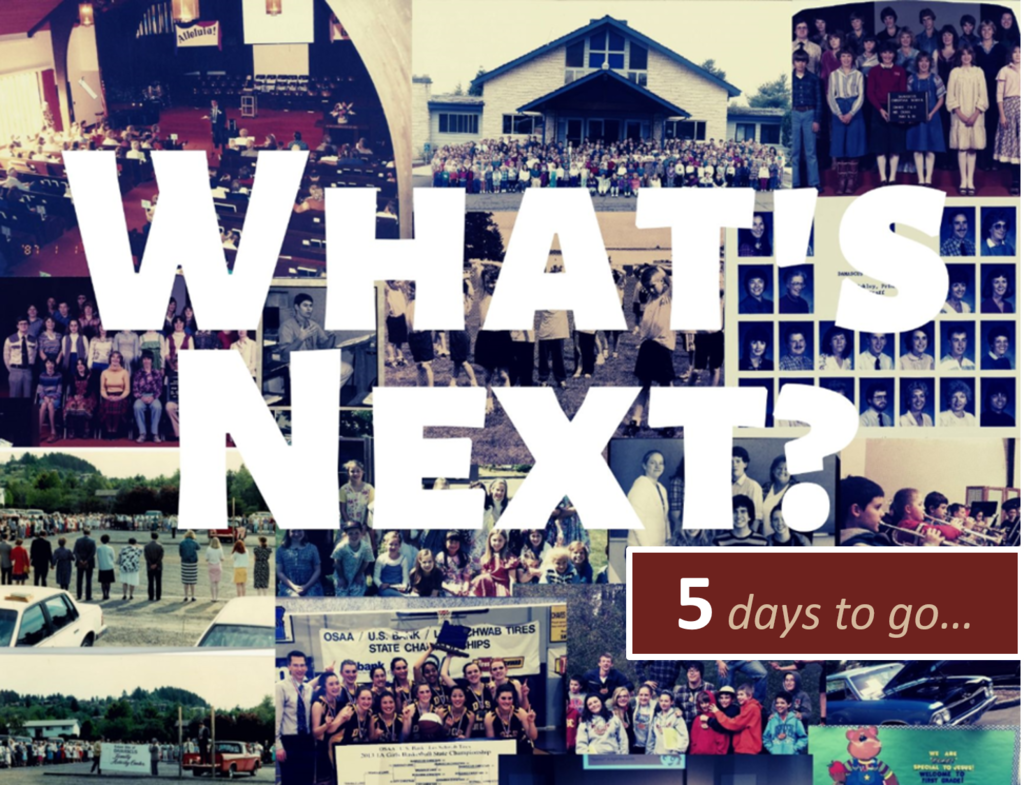 5 days to what's next