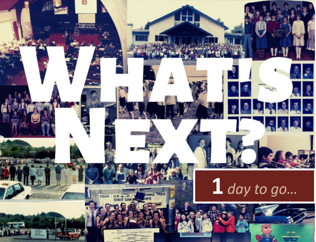 1 day to What's Next