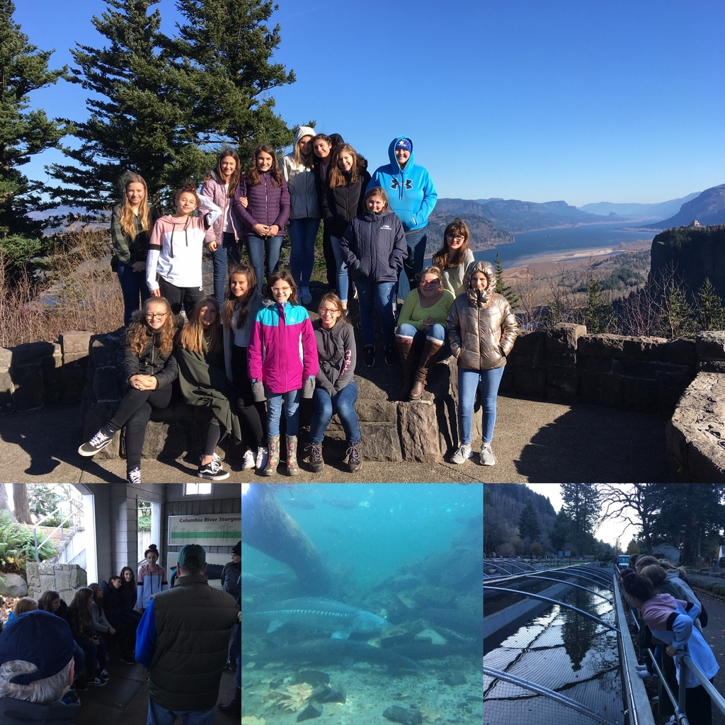 Junior high girls field trip to the gorge.